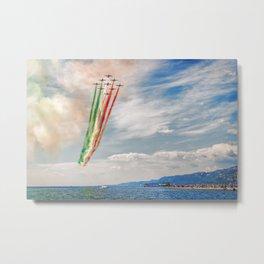 Airshow of Frecce Tricolori Metal Print