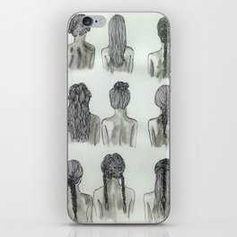 hair(lines) iPhone Skin