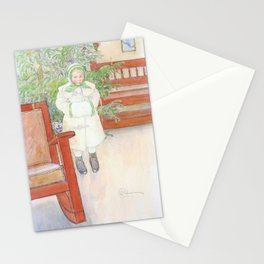 Girl And Rocking Chair - Carl Larsson Stationery Cards
