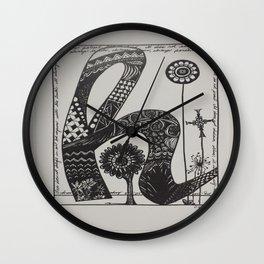 Lowercase h Wall Clock