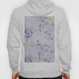 Vintage lavender gray botanical roses floral Hoody