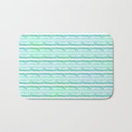 chevron blue&green Bath Mat