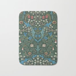 William Morris Blackthorn Wallpaper Block Print Pattern, 1892 Bath Mat