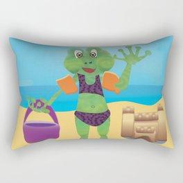 Waving Frog Rectangular Pillow