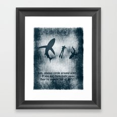 Lesson about people Framed Art Print