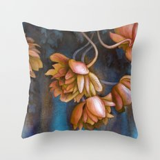 Anemone Flowers Throw Pillow