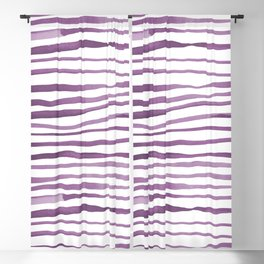 Irregular watercolor lines - ultra violet Blackout Curtain