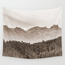 The mountain beyond the forest Wall Tapestry