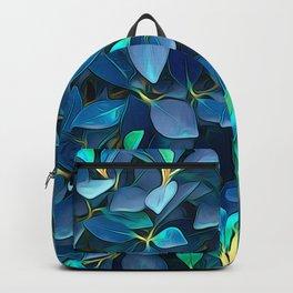 Beautiful Blue Leaves Backpack