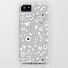 Little Monsters (grey) iPhone Case