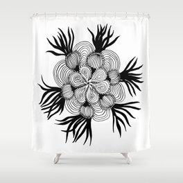 Onion Mandala Shower Curtain