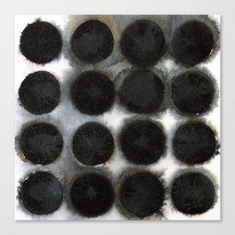 WATERCOLOUR DISCS: Black Spinel Canvas Print