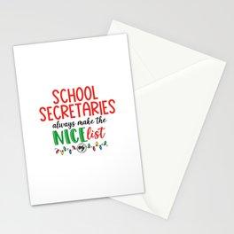 School secretary christmas, office Stationery Cards