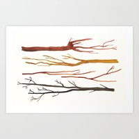 moleskine sticks Art Print