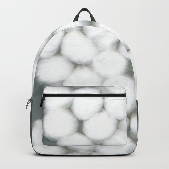 Cotton Balls Minimal Soft Fluffy Art Backpack