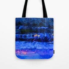 Wild Blue Sea under the Lavender Sky Tote Bag