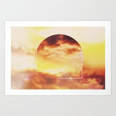 Helios And Clouds Art Print