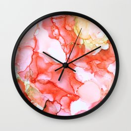 Coral Echoes Wall Clock