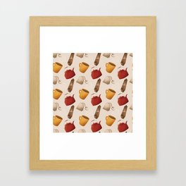 Brown Fall Style Tea and Coffee Framed Art Print