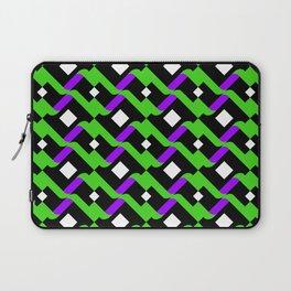 Abstract Green Purple Pale Pop Art Pattern Art Laptop Sleeve