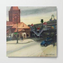 Italian American Masterpiece 'New York Central Railroad' by Alfred de Giorgio Crimi Metal Print