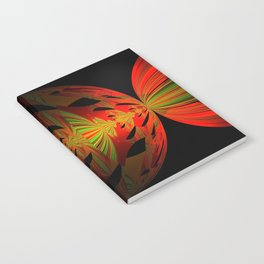 Orange Black Green Design Notebook