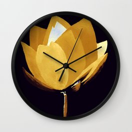 Gold and Silver Wall Clock