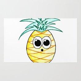 The Suprised Pineapple Rug