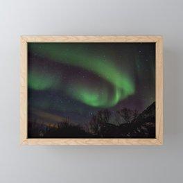 Aurora borealis Framed Mini Art Print