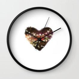 Space Heart Wall Clock