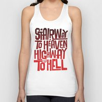 acdc Tank Tops featuring HEAVEN AND HELL by All Kings