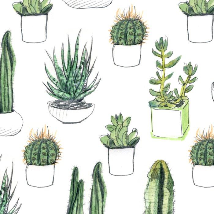 watercolour cacti and succulent Leggings