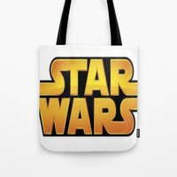 starwars Tote Bags featuring StarWars by Camorrista