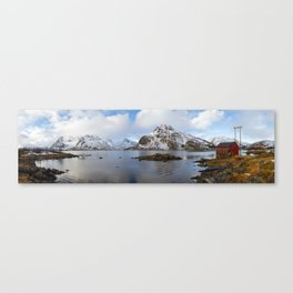 The Red Shed Panorama Canvas Print