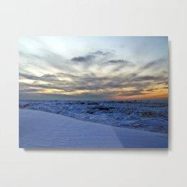 Icy Sea at Sunset Metal Print