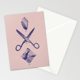 ROCK SCISSORS PAPER Stationery Cards