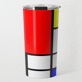 Mondrian Art Travel Mug