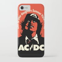 acdc iPhone & iPod Cases featuring Ac/Dc angus young by aceofspades81