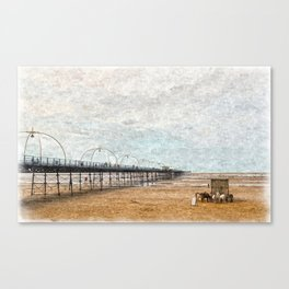 Southport Pier in Oils Canvas Print