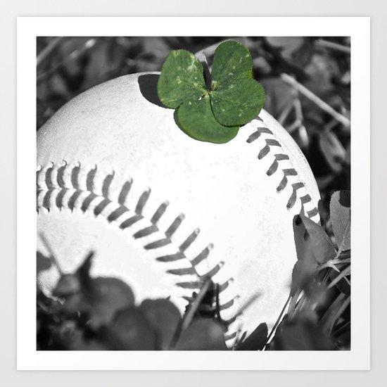 baseball lucky Art Print