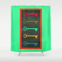key Shower Curtains featuring Key choice by AmDuf