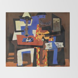 Pablo Picasso Three Musicians Throw Blanket