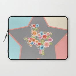Texas Watercolor Flowers Laptop Sleeve
