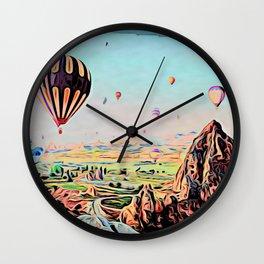 Cappadocia Otherworldly Ballooning Games Gas Event Mountain Country Wall Clock