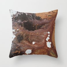 Copper abstract liquidity. Throw Pillow