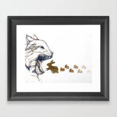 Linx vs. Rabbit Framed Art Print