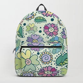 Corful floral surface Backpack