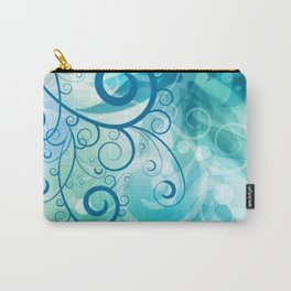 Remolino floral Carry-All Pouch