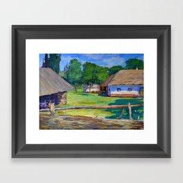 Country house Framed Art Print