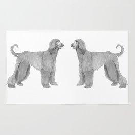 Afghan hound Rug